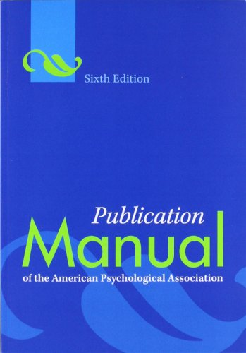 APA Publication Manual