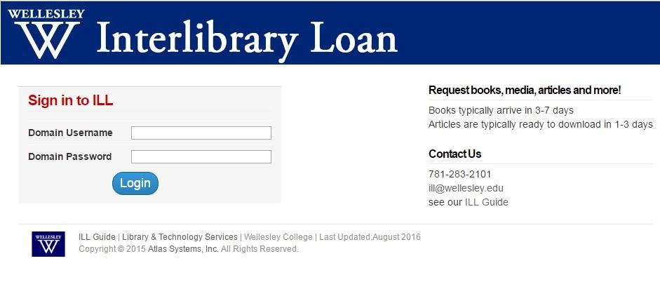 Ill Request Form - Interlibrary Loan (Ill) - Library Research