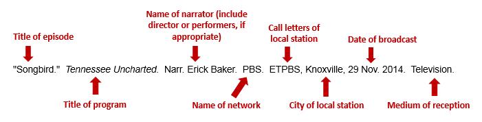 How to cite tv shows essay mla