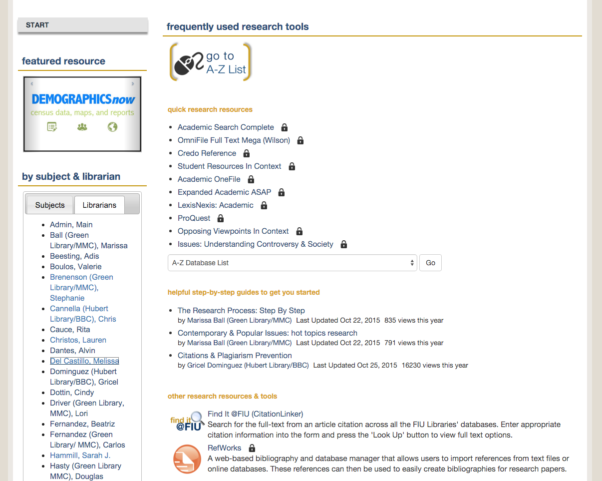 online database for research papers