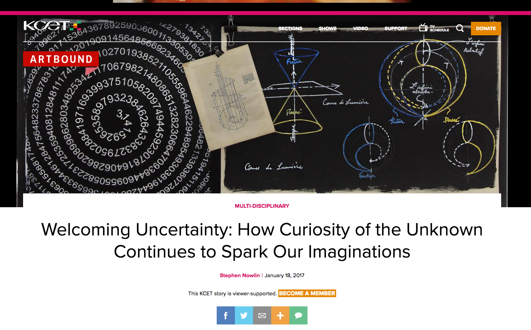 Welcoming Uncertainty: How Curiosity of the Unknown Continues to Spark Our Imaginations