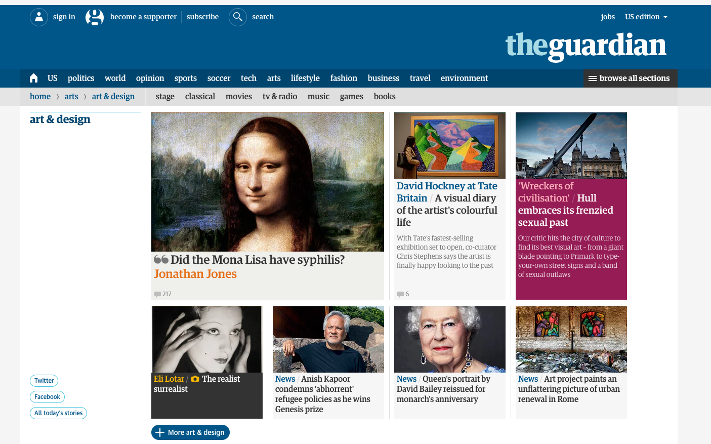 the guardian: art & design