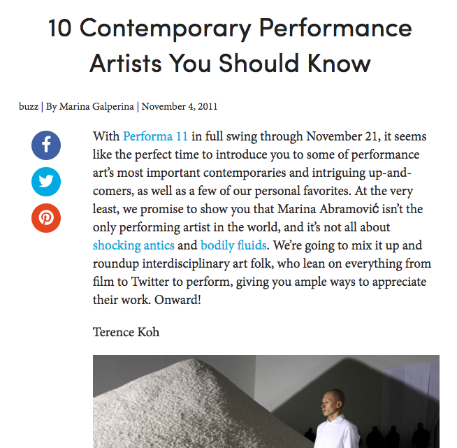 10 Contemporary Performance Artists You Should Know