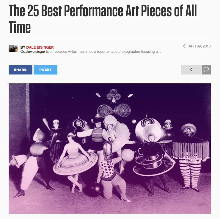 The 25 Best Performance Art Pieces of All Time