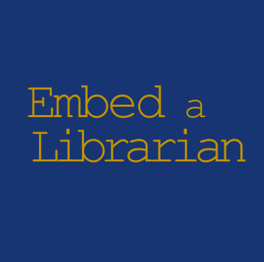 Link to Request an Embedded Librarian form.