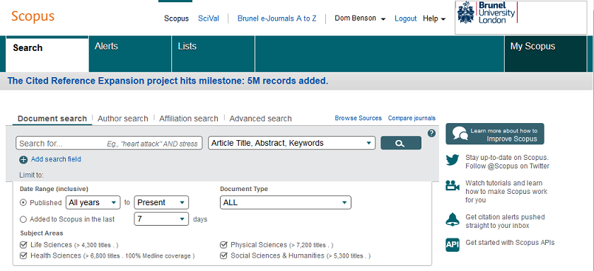 Scopus - an abstracting and indexing database