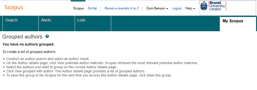 Scopus - grouped authors