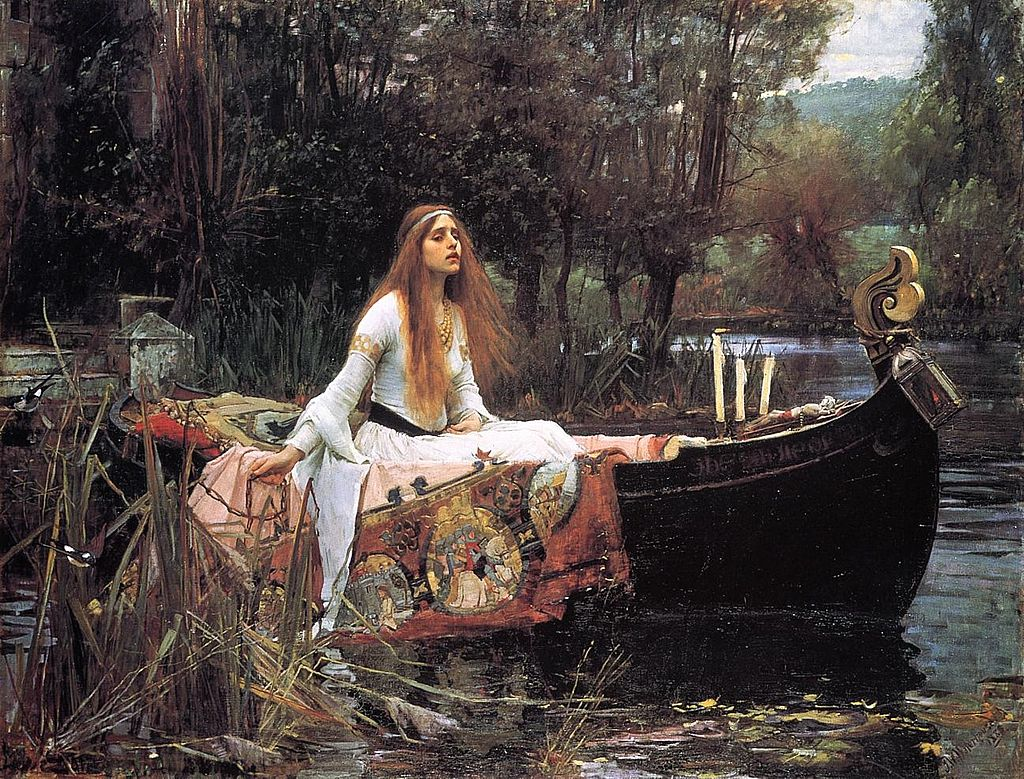 Depiction of Tennyson's Lady of Shalott