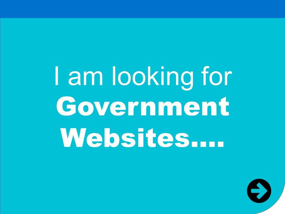 i am looking for government websites