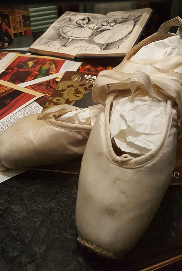 Martha Becket's ballet slippers
