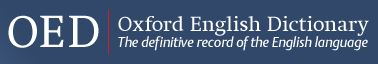 OED: Oxford English Dictionary logo