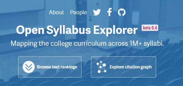 syllabus explorer