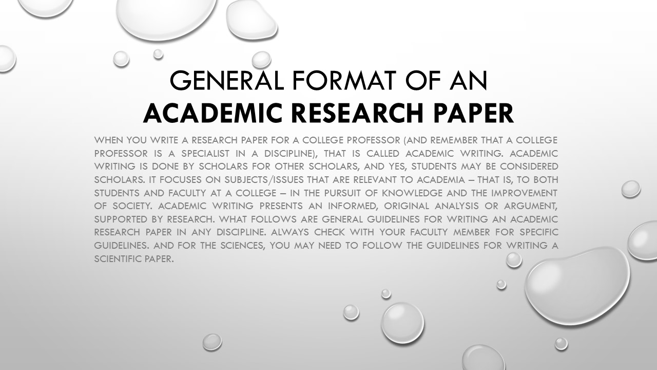 do academic research paper