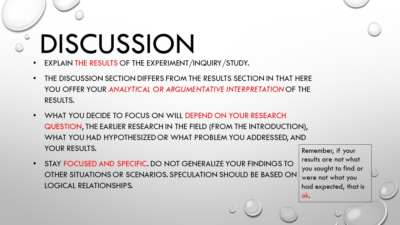 sections of a qualitative dissertation Presenting results (quantitative) in a quantitative dissertation or capstone you if you are also providing a discussion of the results in this section.