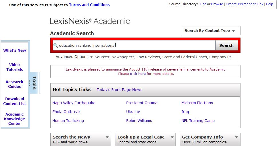 LexisNexis Search