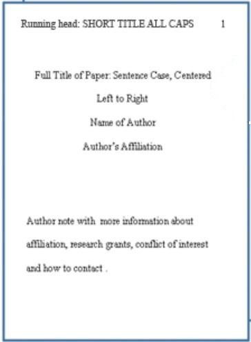 apa style first page of essay