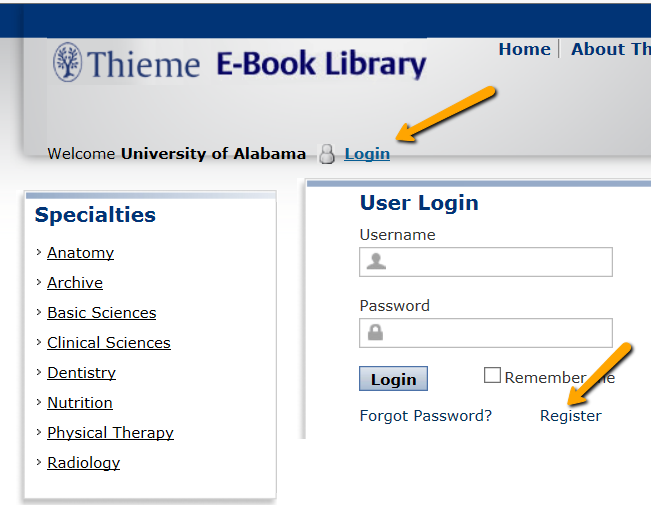 Creating An Account E Books Research Guides At University Of