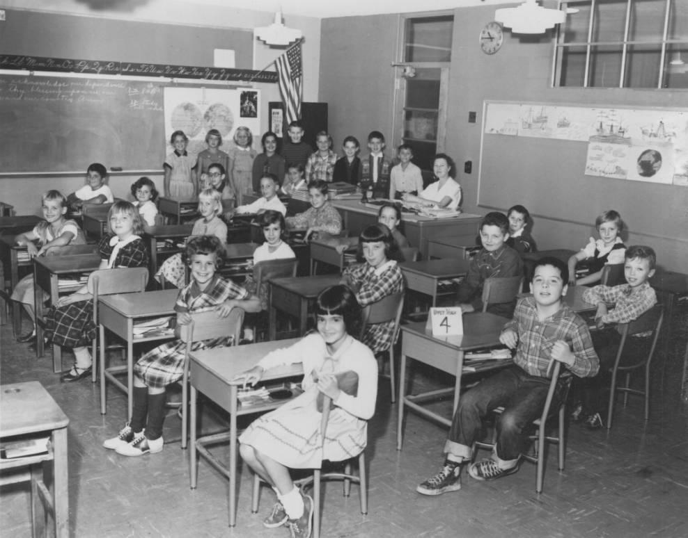 Miss Esther Rose's fourth grade class, Upper Nyack, NY