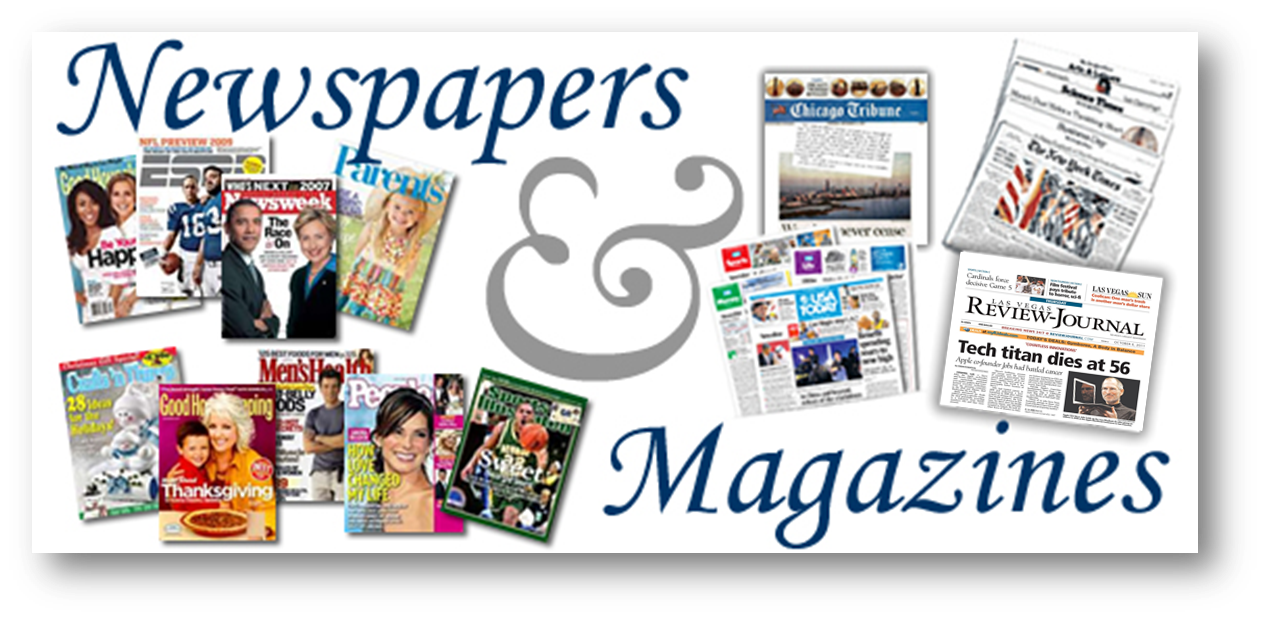 Magazine, Journal & Newspaper Print Subscriptions - Databases A-Z ...