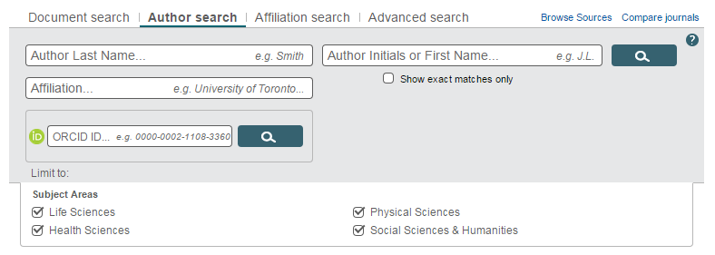 Author Search in Scopus