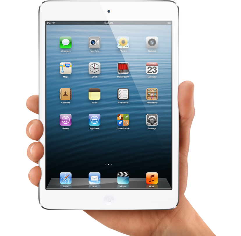 ipad held in a hand