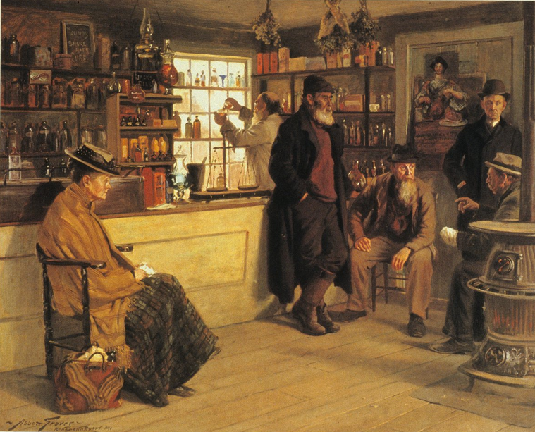 Ye Olde Time Drugge Shop by Abbott Graves