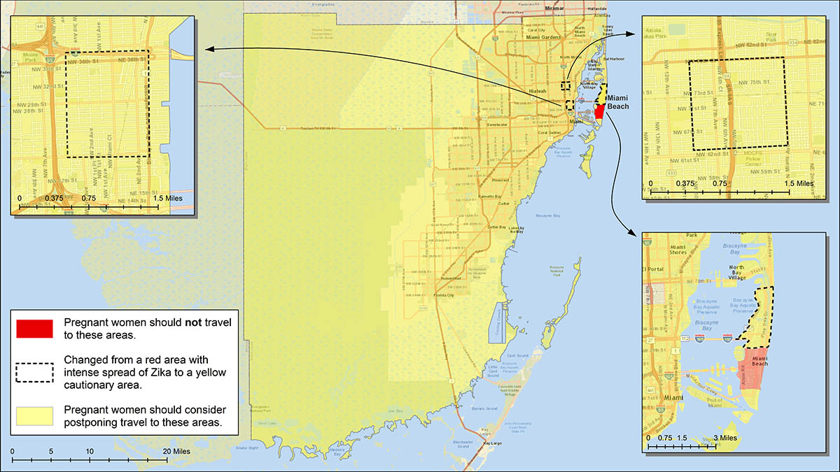 Zika In South Florida Zika Virus FIU Libraries Research At - Florida map dade city