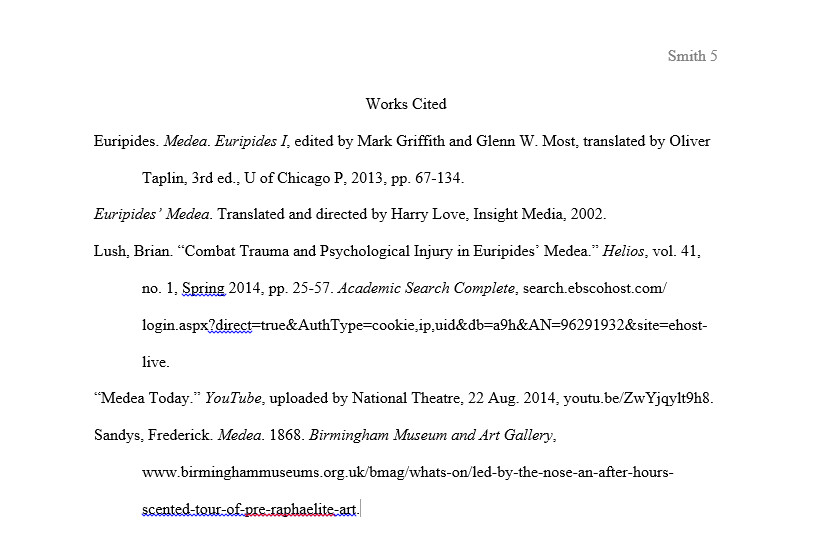 In-text Citation vs. Works Cited Page