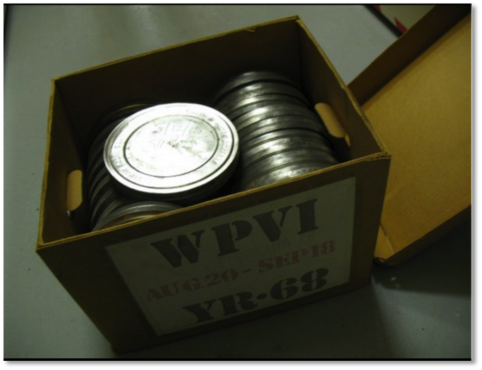 Box of reel cans