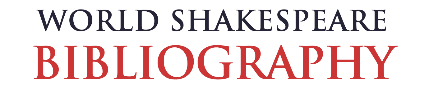 World Shakespeare Bibliography banner