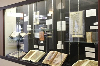 Picture shows a portion of the December 2014 Verba Sacra exhibit
