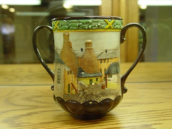 Loving cup from the John Schweitzer Collection of Royal Doulton Loving Cups