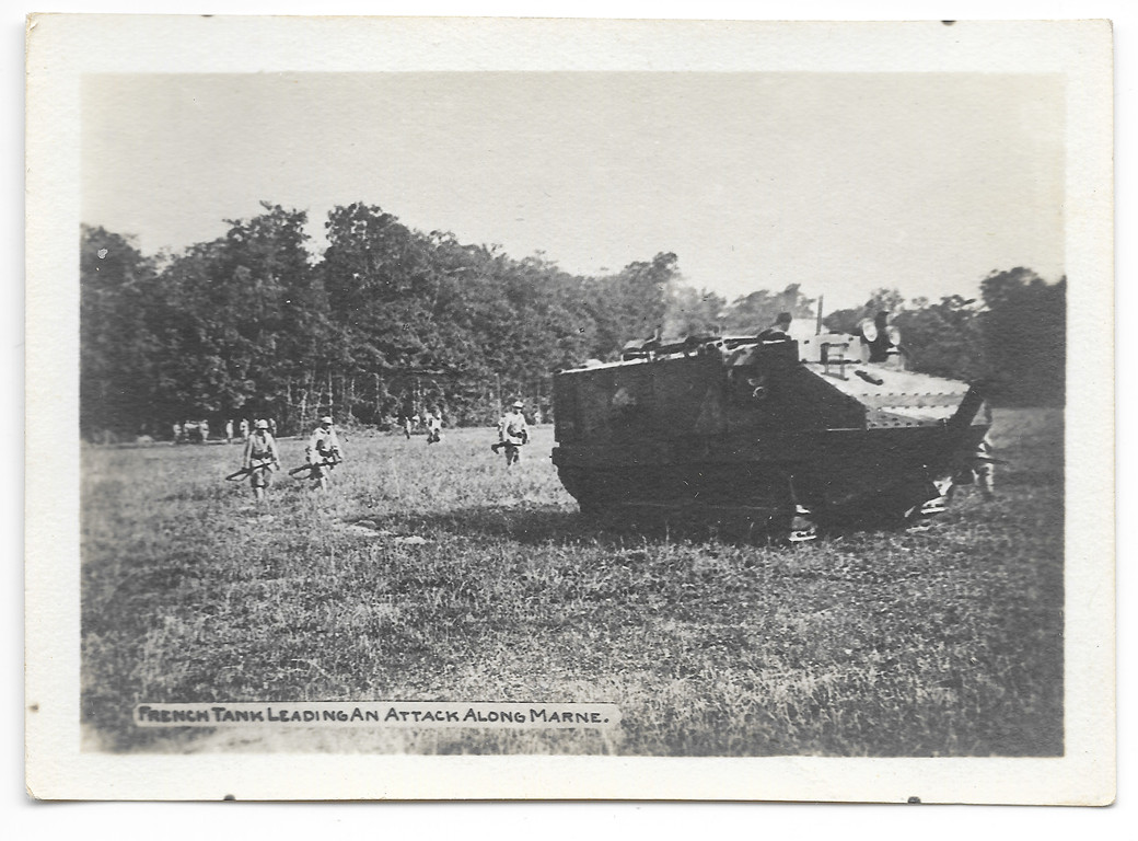 French tank leading an attack along the marne hudson family collection moffat library of washingtonville