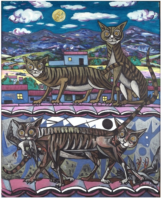 Night cat, Rafael Zabaleta Fuentes, 1956