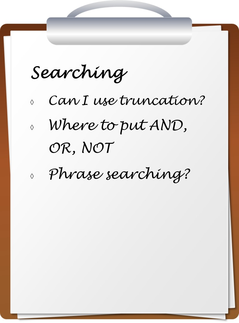 Searching checklist image
