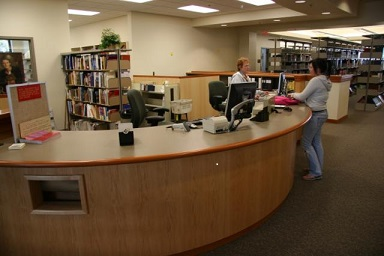 MC Library Circulation Desk picture