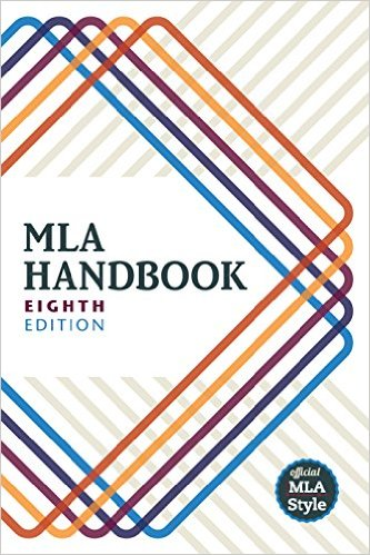 MLA 8th Edition Cover of the Book