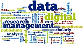 Research Data Management work cloud Picture Credit: