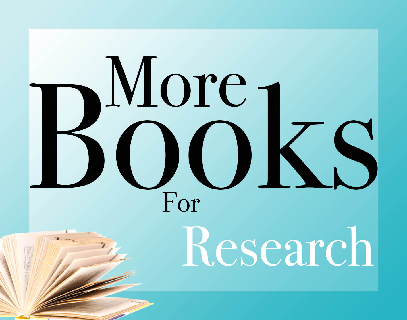 More books for research logo