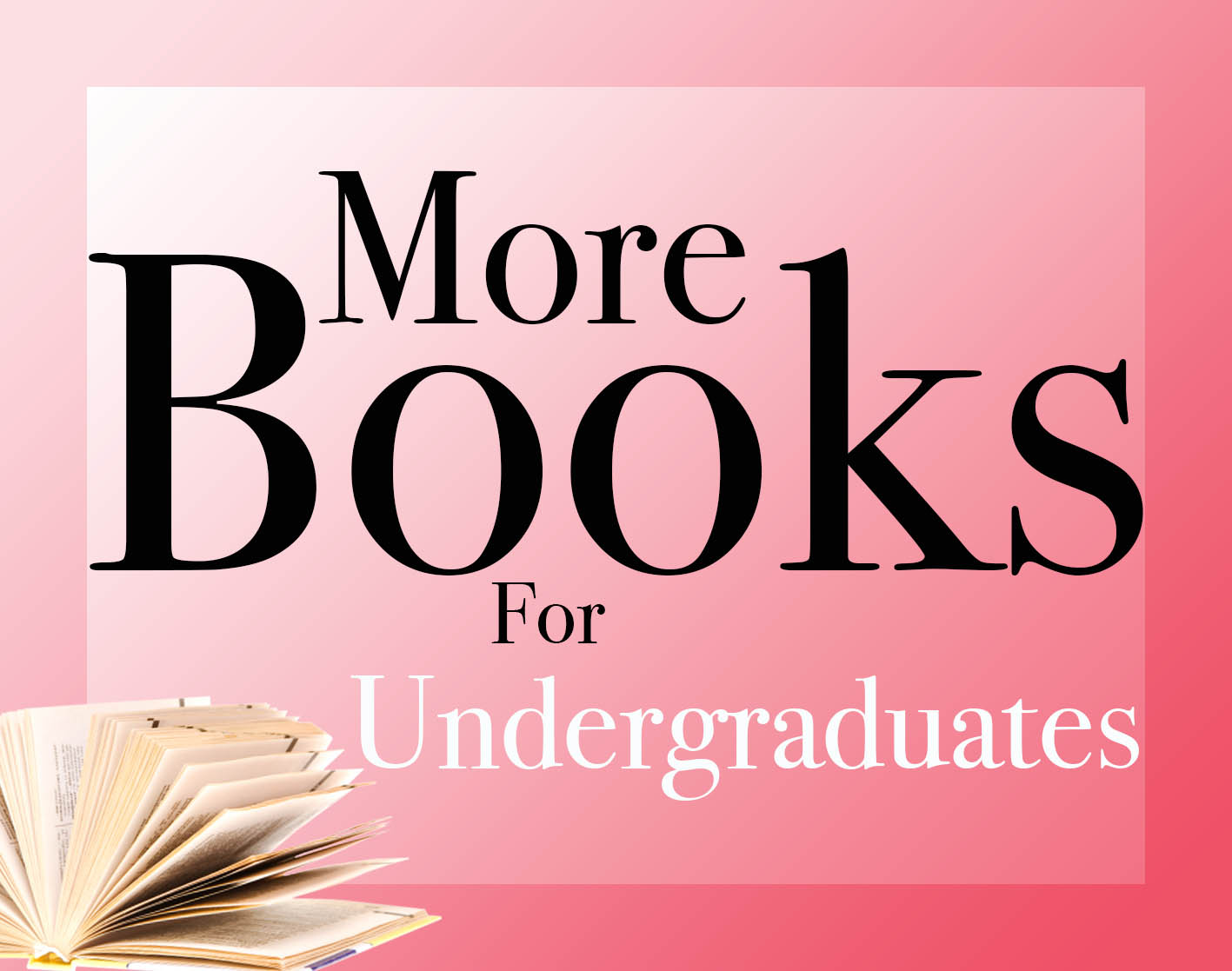 More books for undergraduates logo