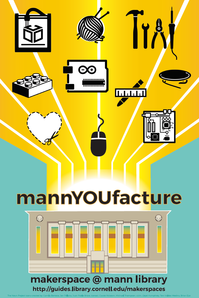 MannYoufacture makerspace poster