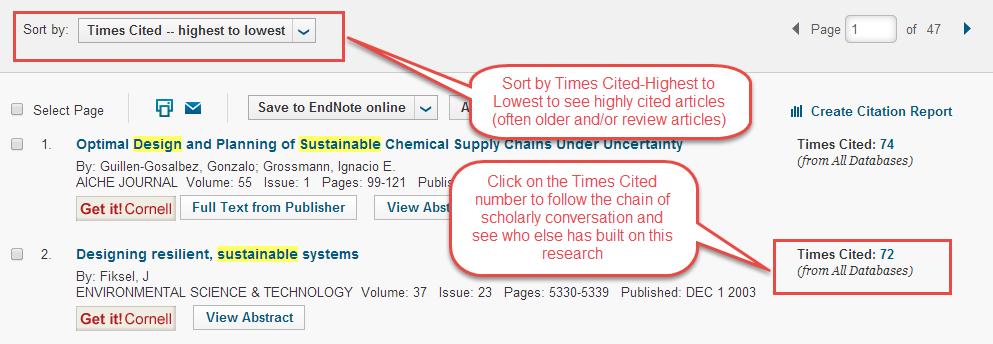Scientific article search engine
