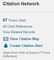 Web of Science Citation features for finding additional references