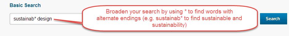 Searching for alternate word endings (truncation)