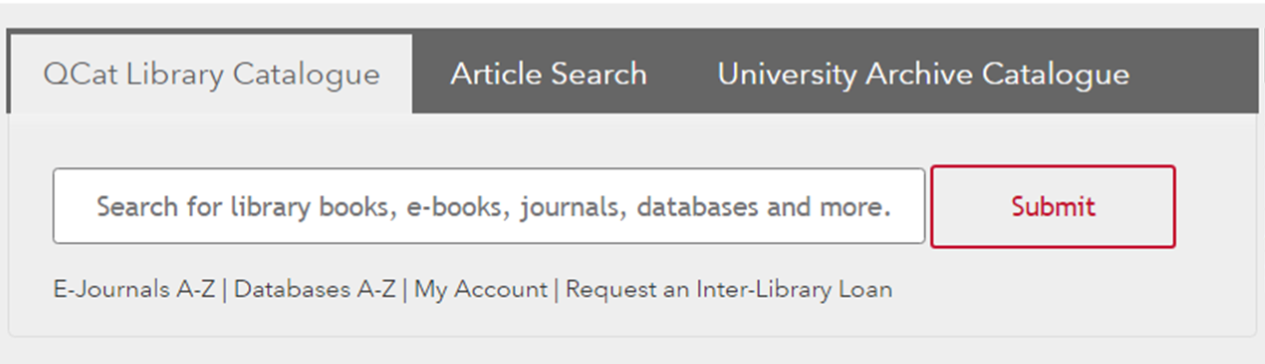 QCat Library Catalogue