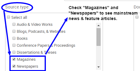 ProQuest Adv. Search Magazines and Newspapers 2