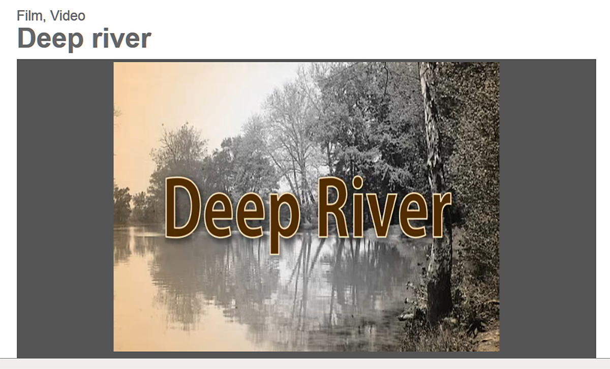 "Library of Congress - ""Deep River"" song history"