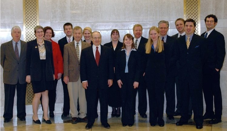 Iowa Supreme Court Justices and Drake 1L group who wrote new Iowa Lawyers Oath