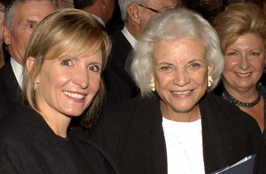 Drake Law Prof. Melissa Weresh with retired Supreme Court Justice Sandra Day O'Connor.