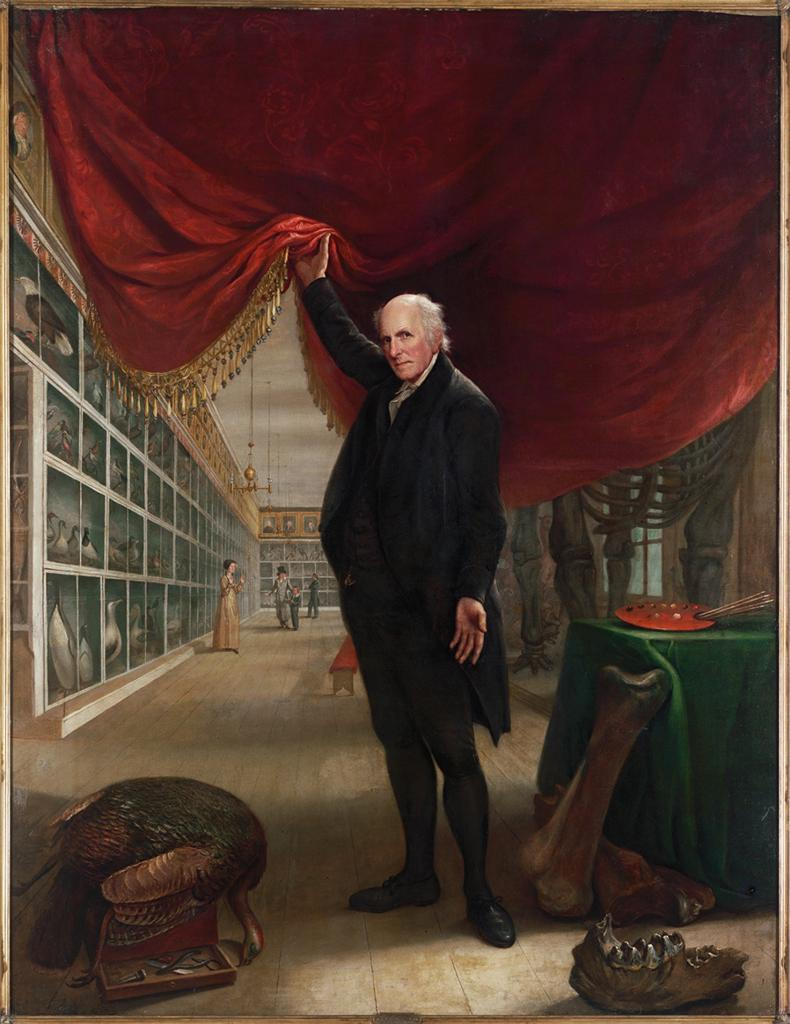 "Image of the painting, ""The Artist in His Museum"" by Charles Willson Peale"